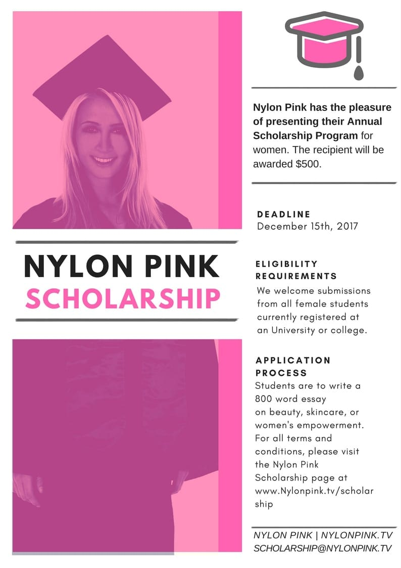 nylon pink scholarship nylon pink official website requirements